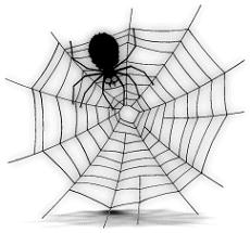 Free halloween spider web clipart