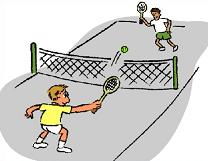 Free tennis court clipart