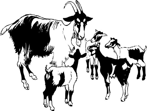 Goat and kids clip art at clker vector clip art