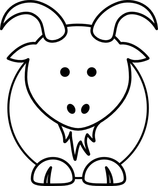 Goat clip art animal coloring pages could be applied to many