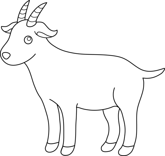 Goat clipart black and white danaspdi top 2