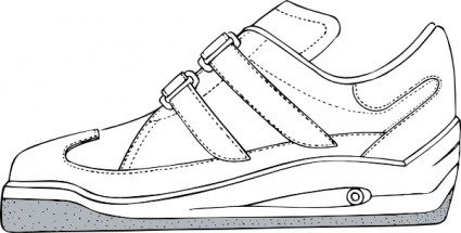 Gym shoe clip art free vector in open office drawing svg svg 2