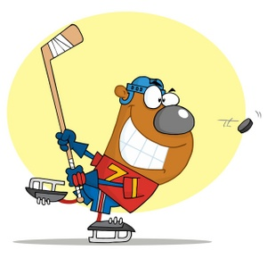 Hockey clipart image hockey playing bear