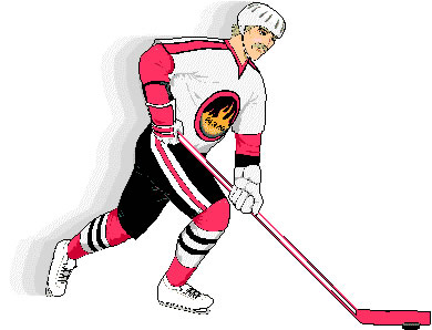 Ice hockey clip art player 1