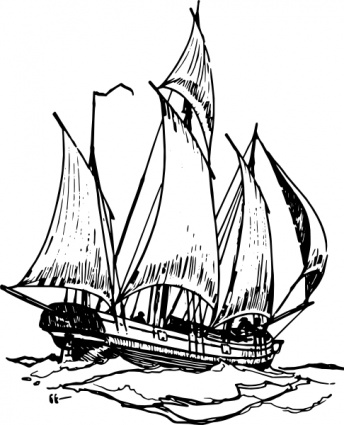 Lugger ship clip art vector free clipart images