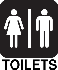Male female toilets road sign clip art at clker vector clip