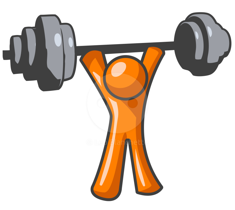 Muscle exercise free clipart