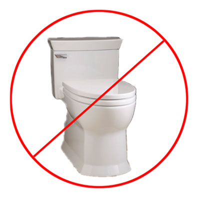 No toilet clipart