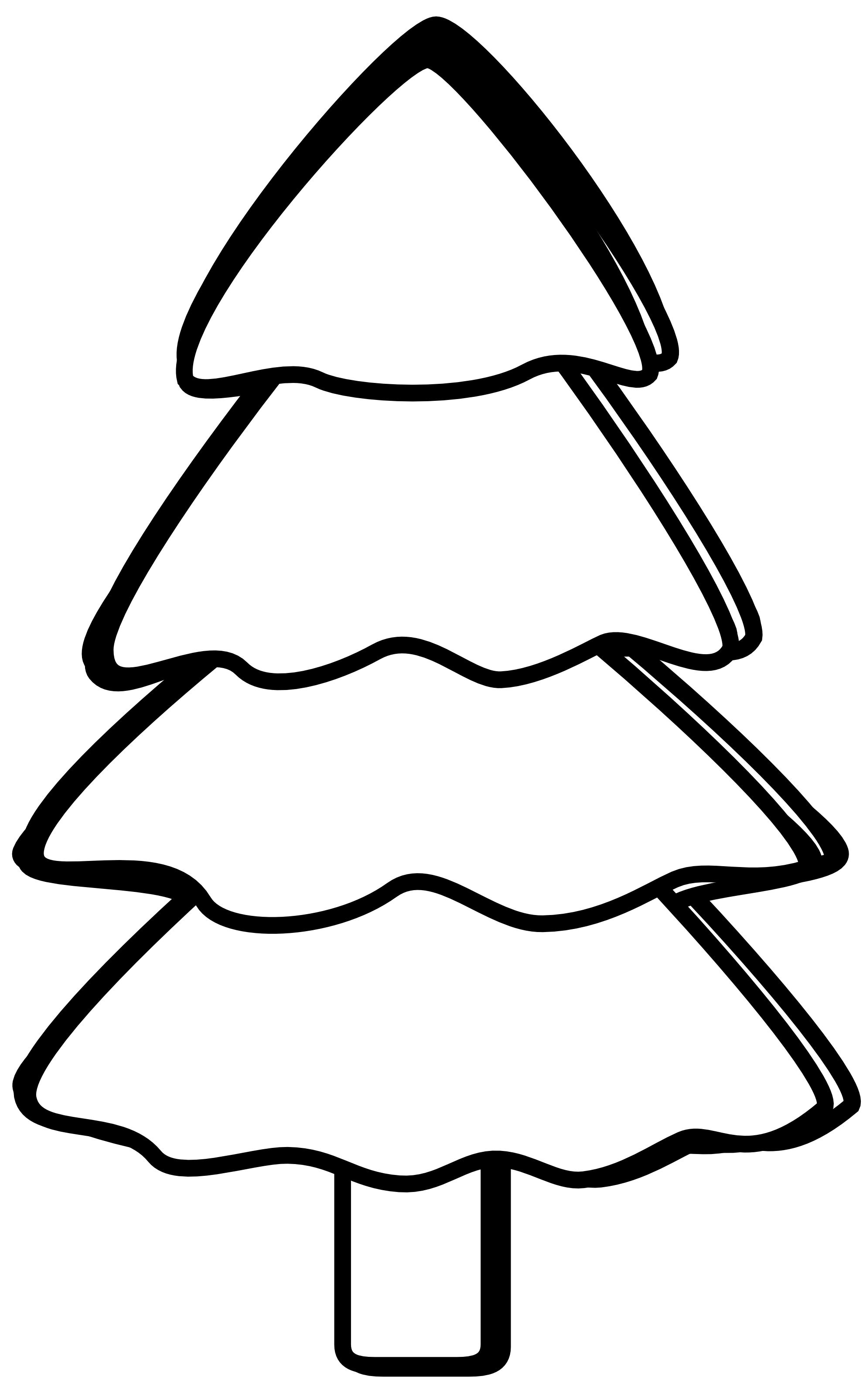 Pine tree clip art black and white 2