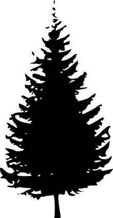 Pine tree clip art black and white clipart