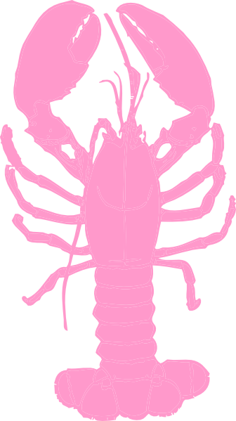 Pink lobster clip art at clker vector clip art
