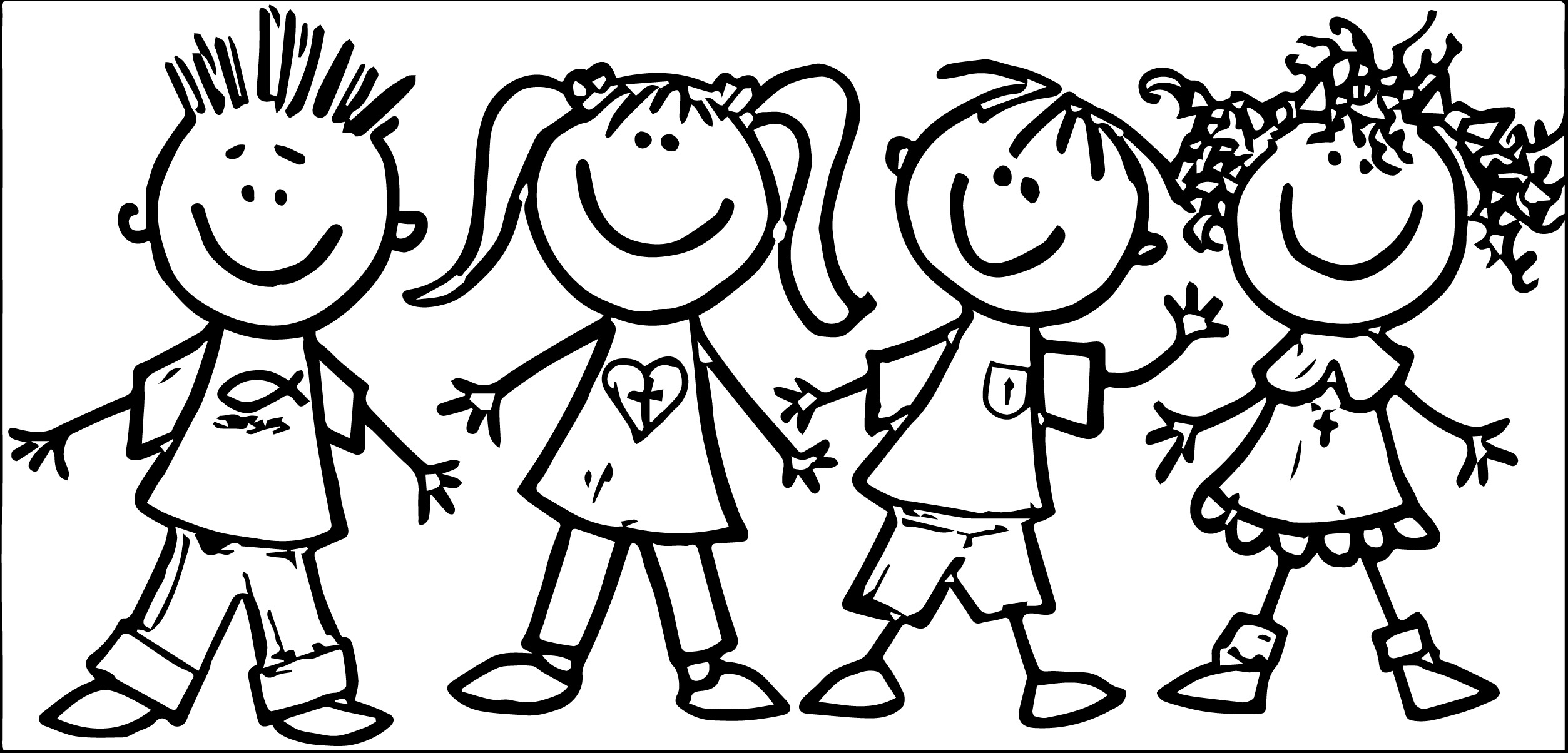 Preschool clip art kids we coloring page wecoloringpage