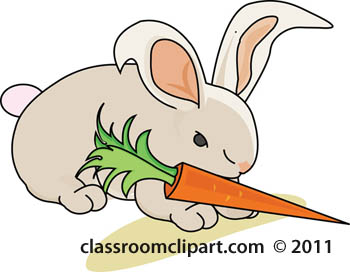 Rabbit clipart rabbit with carrot 8 clipart