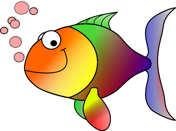 Rainbow fish clip art at clker vector clip art