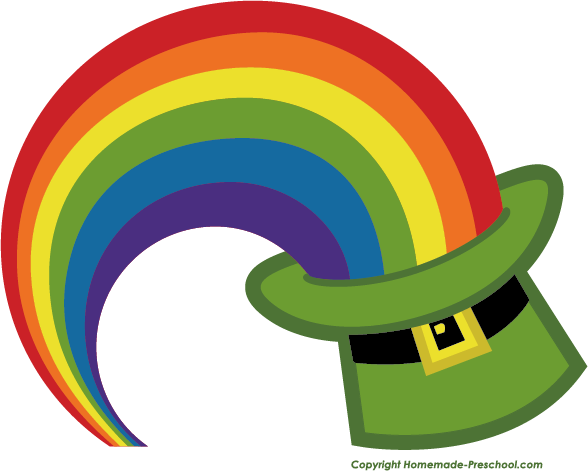 Rainbow free irish clipart