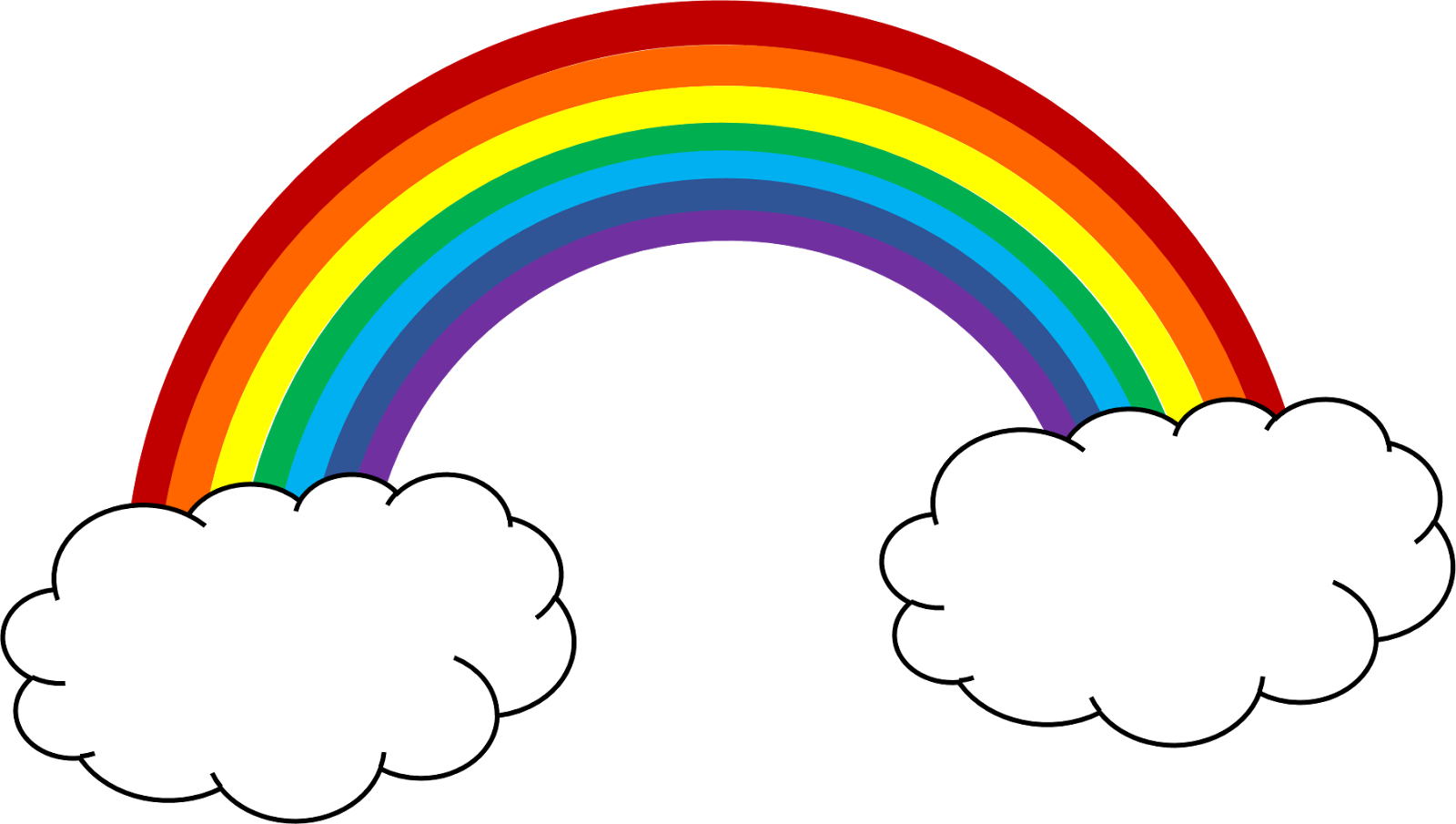 Rainbow sky cliparts free clipart club