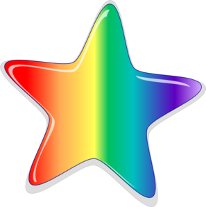 Rainbow star clip art at clker vector clip art