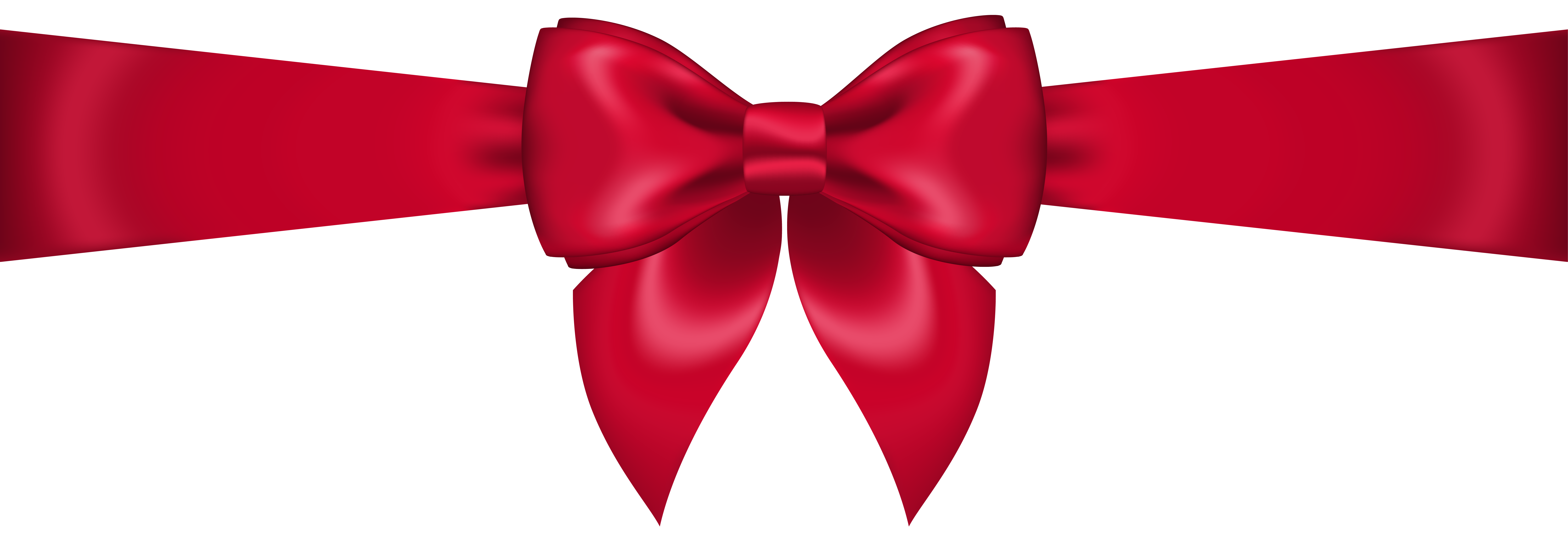 Red bow transparent clip art image