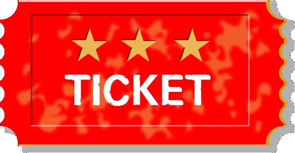 Red ticket clip art at clker vector clip art