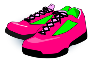 Running shoes clipart free clipart images 2 clipartcow