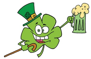 Shamrock clipart image green shamrock celebrating st patricks