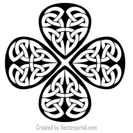 Shamrock outline clip art download free vector art
