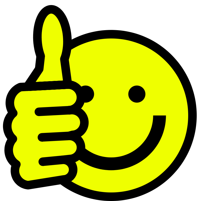 Smiley face clip art thumbs up free clipart images 4