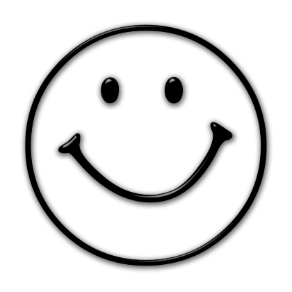 Smiley face clipart black and white free clipart 2