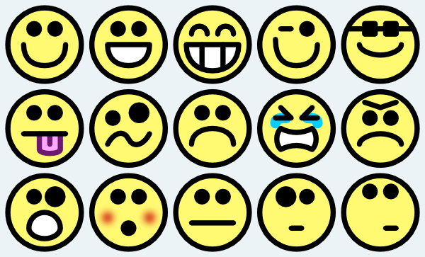 Smiley face small happy face clipart