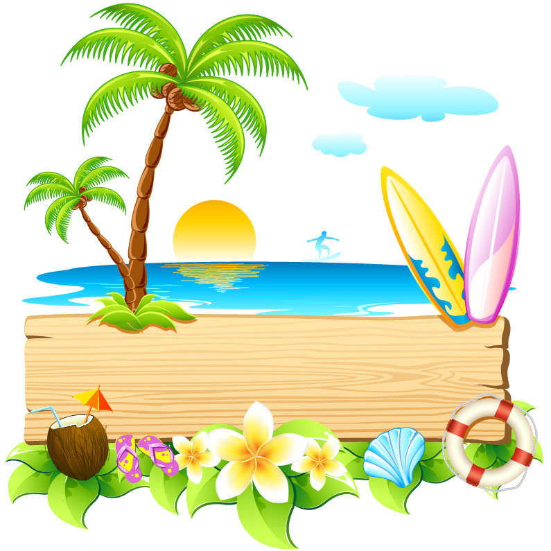 Summer beach party clipart