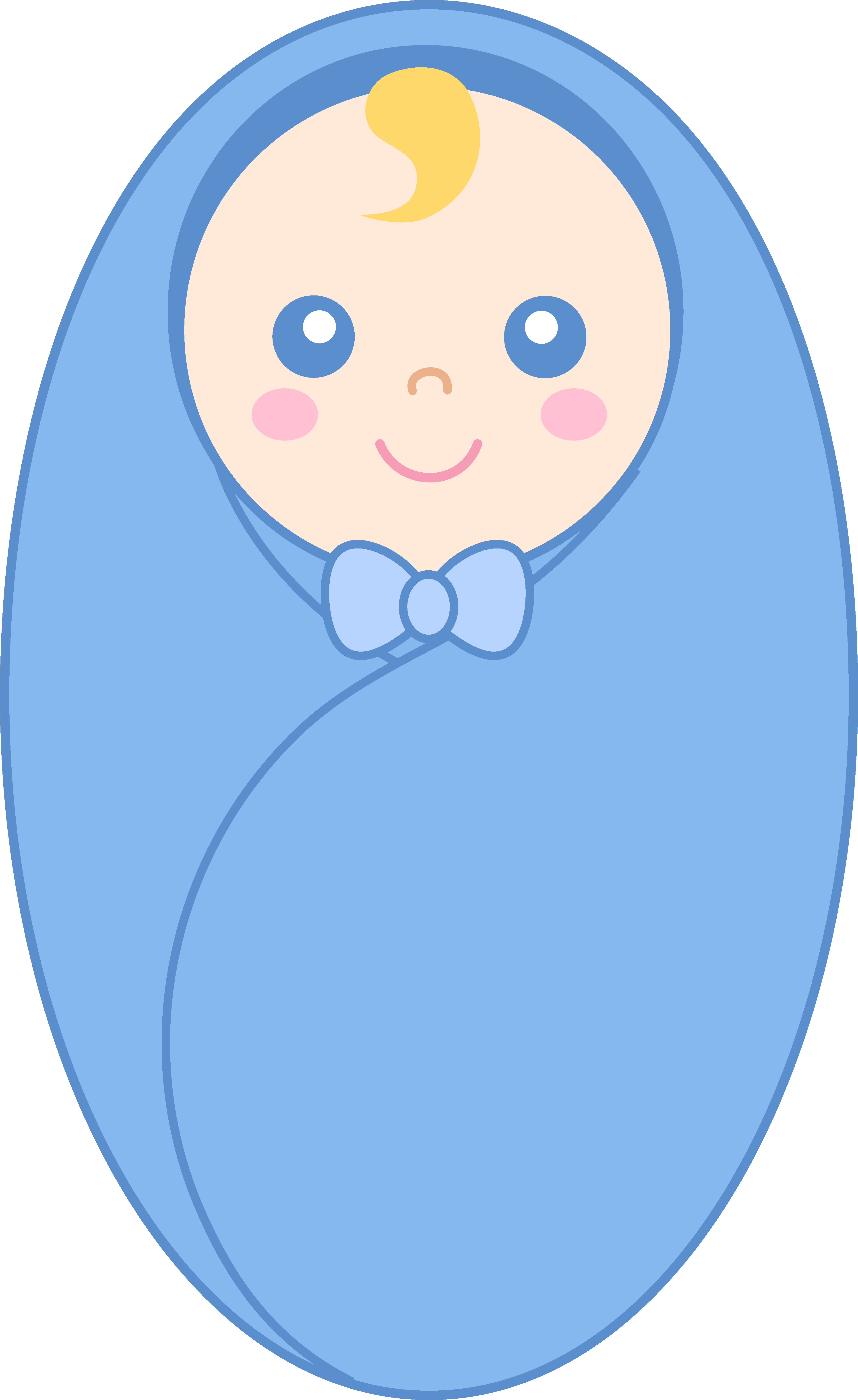 Swaddled baby boy free clip art