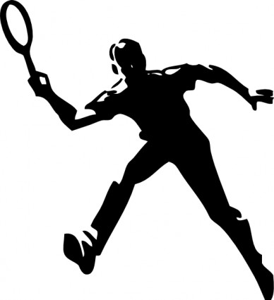 Tennis player clip art free vector in open office drawing svg
