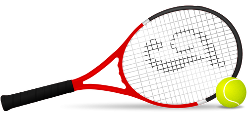 Tennis racket and ball vector clip art public domain vectors