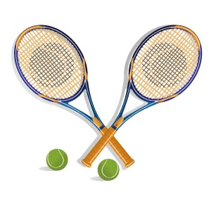 Tennis racket vector clip art freevectors net