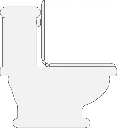 Toilet seat open clip art free vector in open office drawing svg