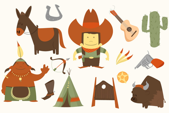 Western clipart photos graphics fonts themes templates