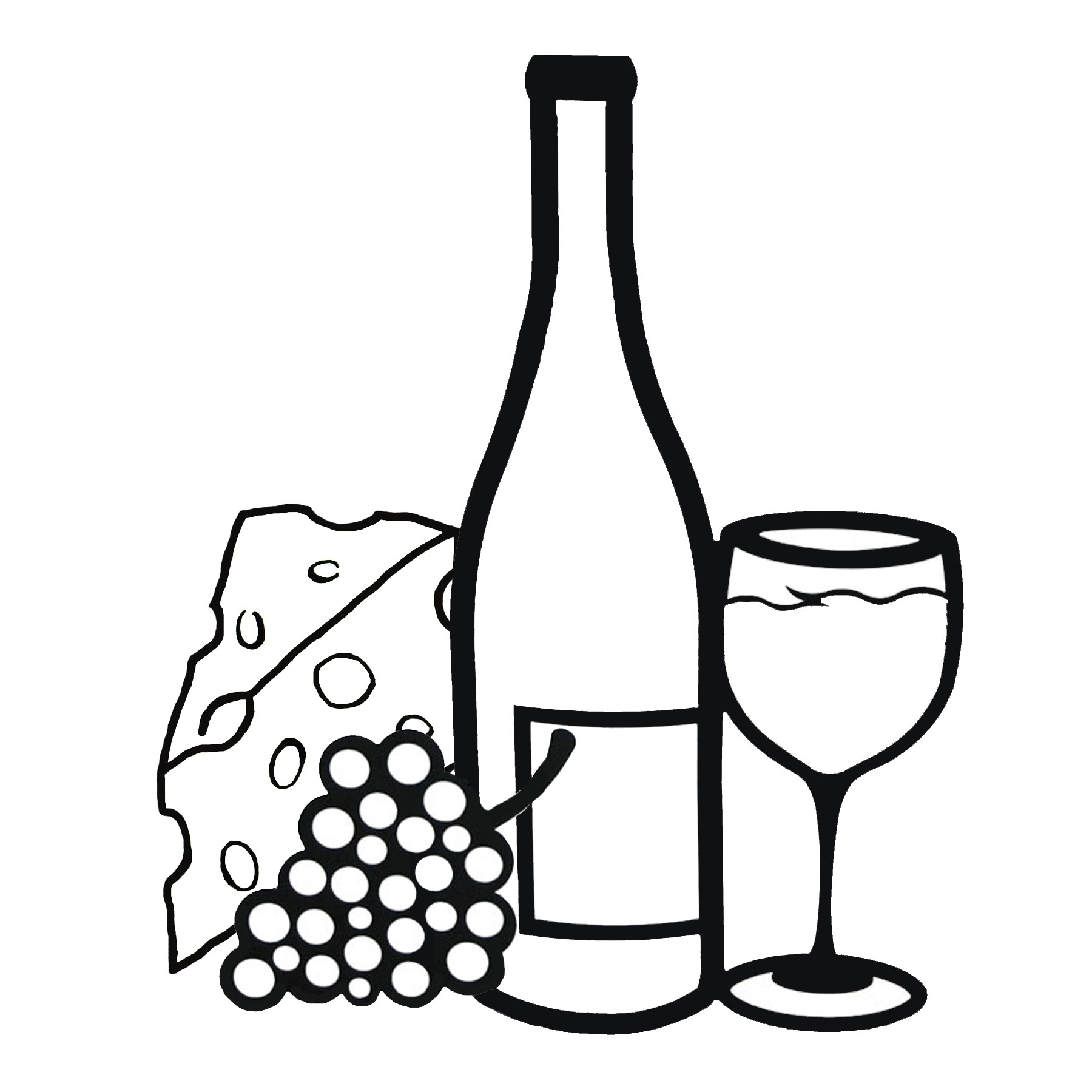 Wine bottle gallery for black and white wine clip art 2 image