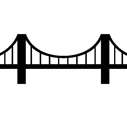 Bridge clipart graphics dpi black lined and white