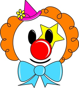 Cartoon clown face clipart