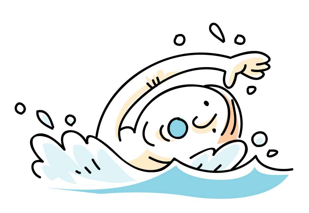 Cartoon pictures of a swimming pool clipart