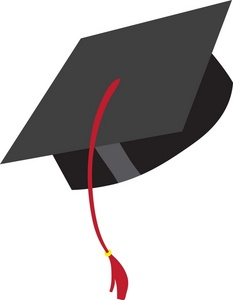 Clipart of graduation cap
