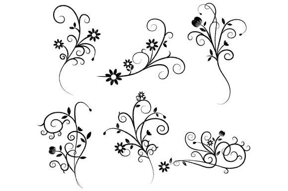 Corner swirls clipart free clipart images image