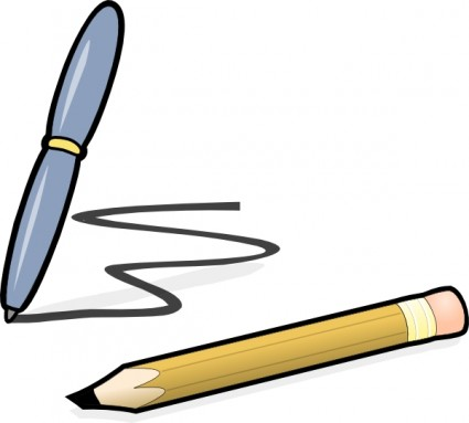Free paper and pen clip art free vector for free download about 3