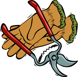Gardening clipart graphics of gardeners and tools 3