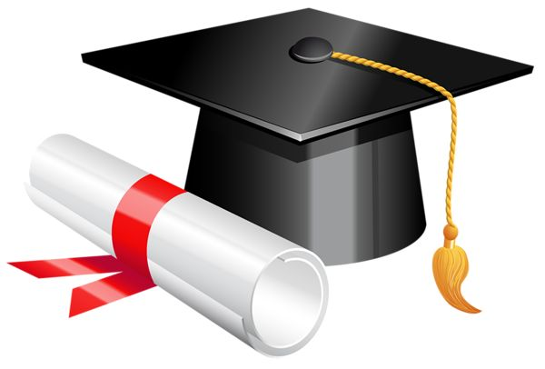 Graduation cap and diploma clipart picture graphics