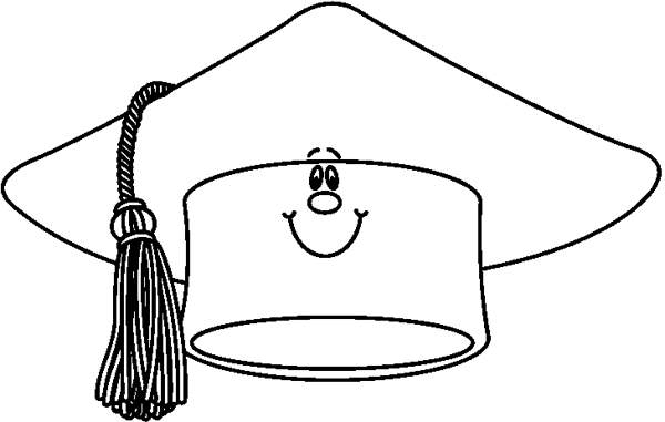 Graduation cap graduation hat clipart black and white clipartsgram