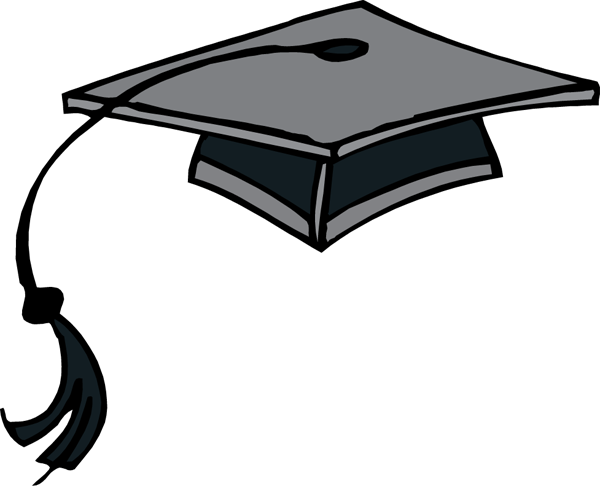 Graduation hat flying graduation caps clip art graduation cap line 3