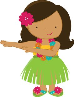 Luau on hula girls hawaiian girls and luau party clip art