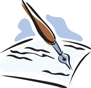 Pen and paper clipart