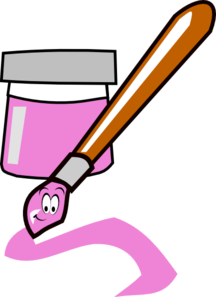 Pink paintbrush clip art at clker vector clip art